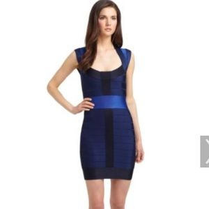 French Connection size 6 dark blue bandage dress